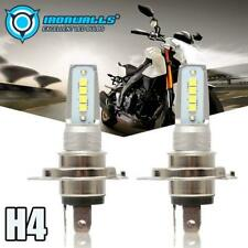 H4 9003 HS1 12V 55W LED COB Motorcycle Hi/Lo Beam Headlight Car Bulb 6000K White