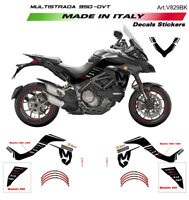 Kit adesivi Mission Winnow Black - Ducati Multistrada 950 fino al 2018 def bassi