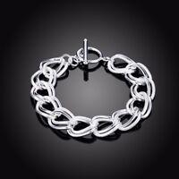 ASAMO Damen Armband Ringe 925 Sterling Silber plattiert A1290