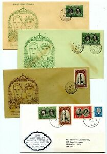 Weeda Canada 246-247 1939 Royal Visit FDCs plus numbered 50th Ann. 1989 cover