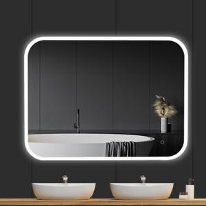 JC 36x48 Bathroom LED Vanity Mirror Dimmable Defogger Touch Sensor 3 Colors 3D