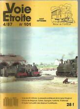 VOIE ETROITE N°101 DESSERTE EXTERIEURE LIGNE MAGINOT / BELGIQUE, SUISSE....