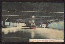POSTCARD SUNSET PARK PENNSYLAANIA DANCE HALL & ROLLER SKATING RING INTERIOR 1907