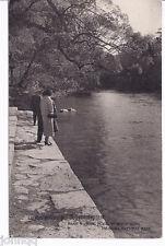 Vintage 1940's Japan Postcard - Hand Washing Place of River Isuzu, Ise-Shima