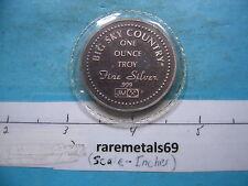 JM JOHNSON MATTHEY 1986 MONTANA TREASURE BIG SKY COUNTRY 999 SILVER VERY RARE