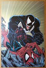 Spider-Man Vs Venom Marvel Comics Poster by Todd McFarlane