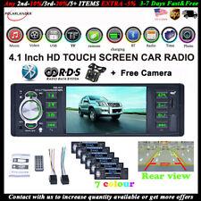 4''1 Din Car Radio+Camera AM/FM/RDS Stereo Bluetooth MP5 Player Mirror Link AUX