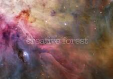 HUBBLE DEEP SPACE IMAGE, Reproduction Rolled Giclee CANVAS ART PRINT 32x24 in.