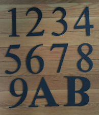 "Black Metal 6"" HOUSE NUMBERS Wrought Iron Signage for Home Address"