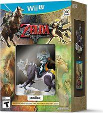 WII U ZELDA TWILIGHT PRINCESS HD THE LEGEND OF ZELDA GAME & WOLF LINK AMIIBO NEW