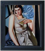 Framed, Portrait of a Lady, Quality Hand Painted Oil Painting 20x24in