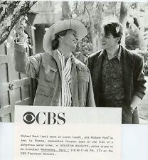 MICHAEL PARE MICHAEL BECK SMILING HOUSTON KNIGHTS ORIGINAL 1987 CBS TV PHOTO