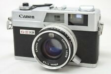 Canon Canonet QL17 G-III Rangefinder Film Camera w/1:1.7 lens *Working* #J024g
