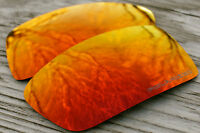 Polarized Dark Fire Red Mirrored Replacement Sunglass Lenses for Oakley Gascan