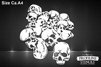 Airbrush Schablone Totenköpfe Schädelhaufen | Pile of Skulls Stencil