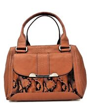 BRAND NEW B , MAKOWSKY RUSSELL E/W SATCHEL MAPLE PYTHON  MSRP: $298.00