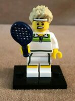 Tennis Player Lego 8831 Series 7 Collectible Minifigure man dark blue racquet