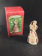 "2001 Hallmark Keepsake Ornament ""Victorian Barbie with Cedric Bear"" Porcelain"