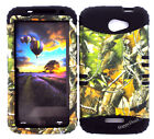 KoolKase Hybrid Silicone Cover Case for HTC One X S720e - Camo Mossy 10