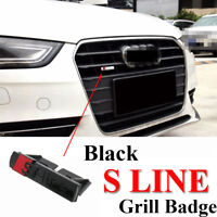 S Line Badge Original OEM Emblems Chrome Black Matt Grill Badges Decal For Audi