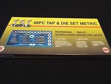 TAP AND DIE SET 40 PIECE METRIC - FINE CARBON STEEL -  BRAND NEW