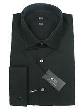 Boss Black Camicia Jacques in 37 (slim fit) Black con bracciale a banda DUE ply