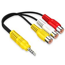 AV Adapter, Video AV Component Adapter Cable Replacement for TCL TV, 3 RCA to AV