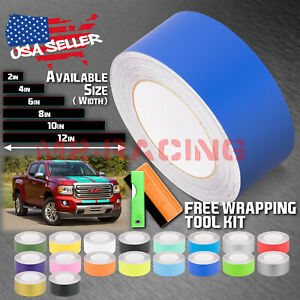 Matte Color Racing Stripes Vinyl Wrap Sticker For GMC Chevy Truck 25FT / 50FT