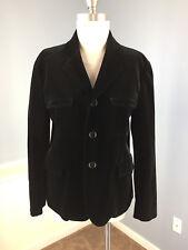 ASPESI IT 46 Black Velvet Women's Blazer Jacket Excellent Italy
