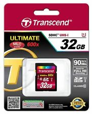 Transcend Ultimate 32GB 90MB/s 600X Class 10 SDHC SD UHS-I U1 Flash Memory Card*