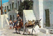 BR11192 Mykonos malerische Strasse ane donkey  greece