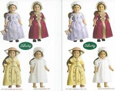 AMERICAN GIRL FELICITy MINI STICKERS~2! MEET~TEA & CHRISTMAS GOWN~NIGHTGOWN~CAP