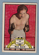 1951 Topps Ringside MAX BAER NO CREASES & CLEAN VINTAGE RARE