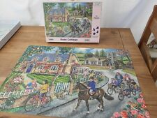 HOP House of Puzzles - 'Rose Cottage' 1000 Pieces Jigsaw Puzzle COMPLETE