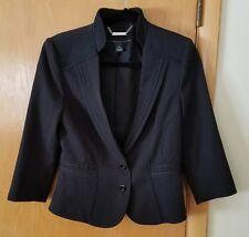 White House Black Market sz 6 Blazer Jacket Black Career 2 Button 3/4 Sleeve