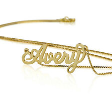 Name Necklace 18k Gold Plate Personalized Name Necklace - Custom Made Any Name