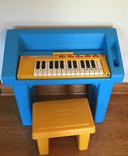 Playskool Vintage Lil Enterainer PIano RARE!! 1986 With Stand And Bench RARE!!