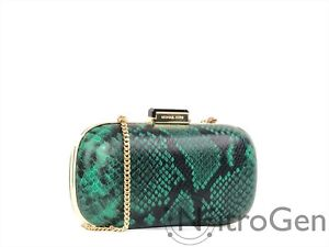Michael Kors Elsie NWT Embossed Leather Dome Crossbody Clutch