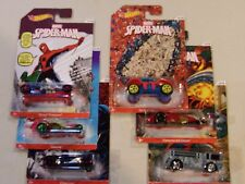 Hot Wheels Spiderman Cars (Lot of 6) - N