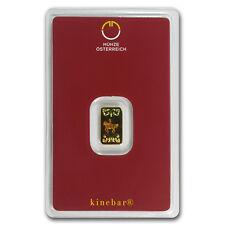 1 gram Gold Bar - Austrian Mint Kinebar Design (In Assay) - SKU #78373