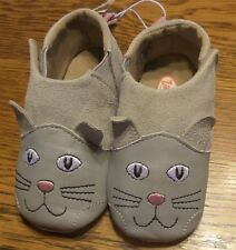 Size 3 Zooligans Crackers The Kitty Baby Girls Gray Booties Shoes Slippers