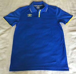 Umbro Mens Blue and Yellow Jelly Bean Polo Shirt Soccer Size Mens Small
