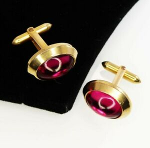14k Yellow Gold Plated 925 Sterling Silver Cabochon Cufflinks Men's Fine Jewelry