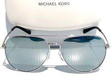 NEW* MICHAEL KORS SILVER MIRROR 58mm AVIATOR MK5009 Rodinara Sunglass