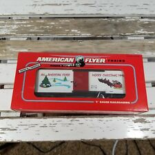 AMERICAN FLYER S GAUGE 1994 MERRY CHRISTMAS HOLIDAY BOXCAR--ITEM #6-48321