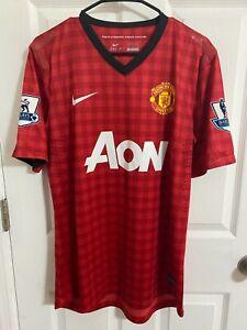 2012/13 Manchester United Match Worn Paul Scholes Shirt Player issue SUPER RARE
