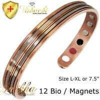 STAMPED SOLID PURE COPPER MAGNETIC BANGLE/BRACELET MEN WOMEN ARTHRITIS CB60B