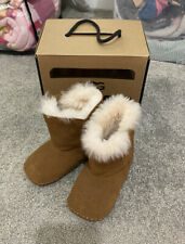 Genuine Baby Girl Fur Lined Short UGG Boots Size 4/5