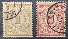 Nederland 1884 Postbewijs NVPH PW1 en PW6 Gestempeld