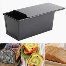 Rectangle Non-stick Box Loaf Tin w/Lid Kitchen Pastry Cake Baking Bakeware Home